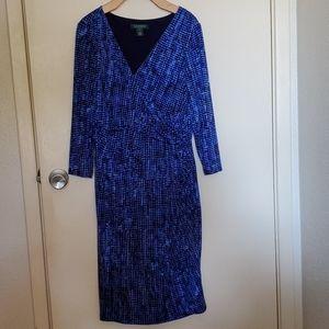 Bright blue vibrant speckled dress